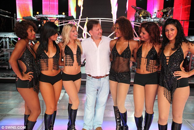 Big time: David King, centre, has theatres in the US and claims to be the biggest employer of dancers in Europe