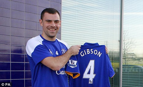 Debut: Gibson signed fro Everton on Friday