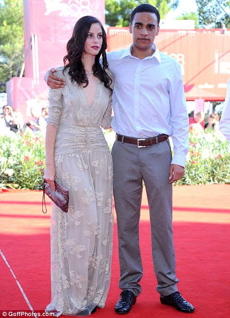 A taste of success: James Howson on the red carpet with his Wuthering Heights co-star Kaya Scodelario