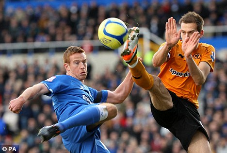 Big buy: Roger Johnson (right) was one of Wolves' main signings last summer