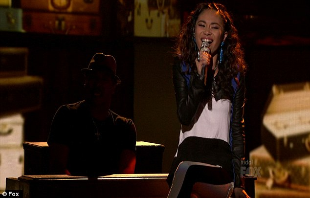 It's a race to the finish: Jessica Sanchez joined Joshua among the frontrunners after her performance tonight
