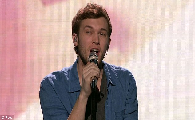 Small eruption: Phillip's performance of Damien Rice's Volcano was declared to be his best in the contest so far