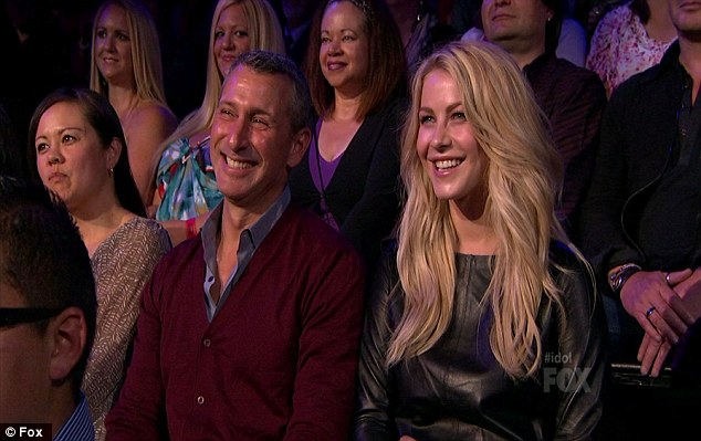 Promotional appearance: Julianne Hough was in the audience to support boyfriend Ryan Seacrest along with promote new film Rock of Ages