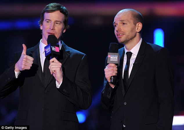 Your hosts for the evening: Rob Huebel (L) and Paul Scheer presented the 17th annual event