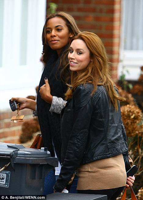 Both heading for domestic bliss: Rochelle Wiseman is now engaged to Marvin Humes of JLS