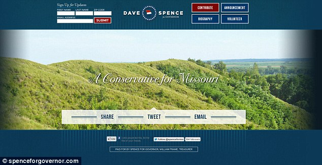 On the campaign trail: Dave Spence has been challenging for governor of Missouri in the 2012 elections