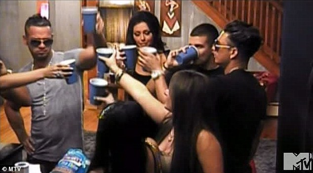 Drinking up a storm: The Jersey Shore gang were up to their usual hard drinking ways in tonight's episode