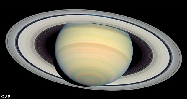 Celestial: This image of Saturn viewed from NASA's Hubble Space Telescope in 2004
