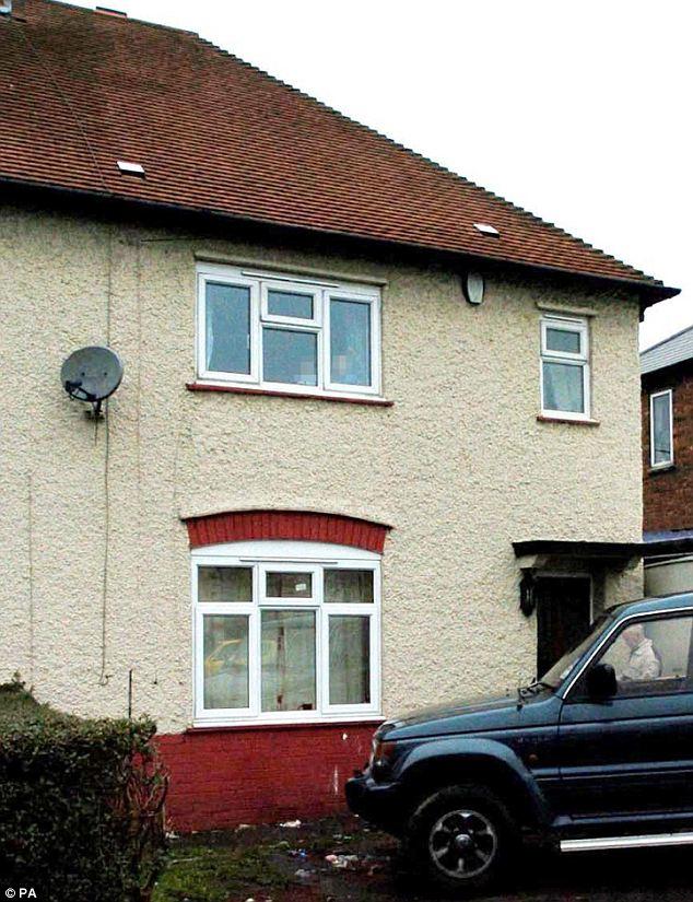 Devastating fire: The exterior of Mick Philpott's home in Allenton, Derby
