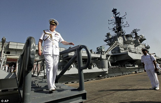 The Prince, himself an honorary Rear Admiral, visited an Indian aircraft carrier at the Western Naval Command in Mumba