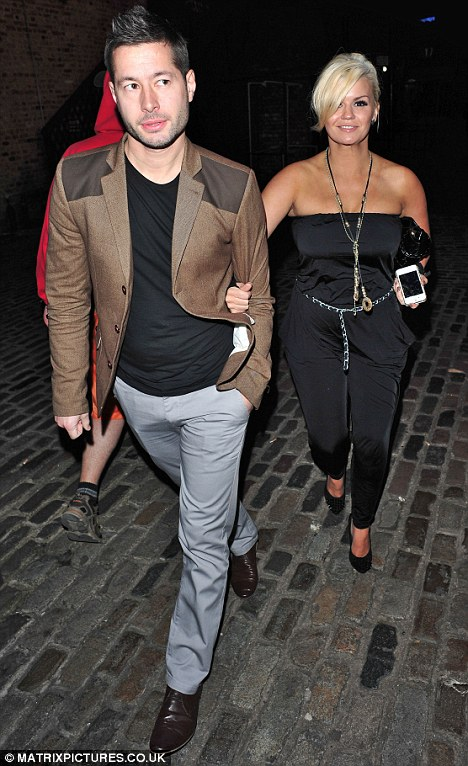 Dinner date: Kerry Katona was pictured on a night out in London with her boyfriend Steve Alce on Saturday