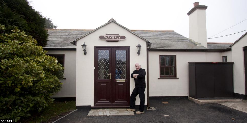 From the outside: Mr Higgins added that he was considering opening it up to the public once it was fully restored - but wasn't sure of the interest