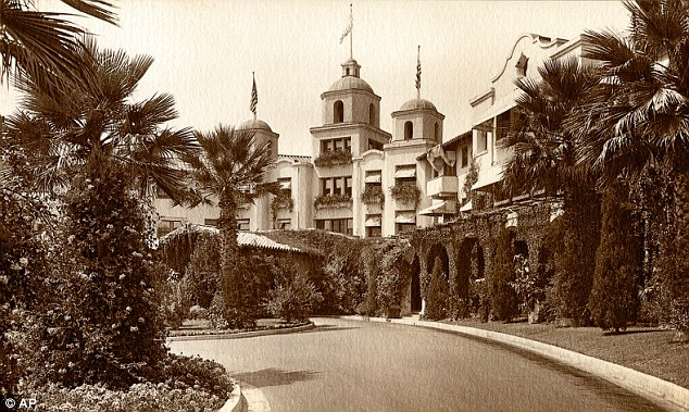Historic site: The Beverly Hills Hotel is celebrating its 100th anniversary this month but is still a favourite among celebrities who love to go for peace and quiet away from the paparazzi