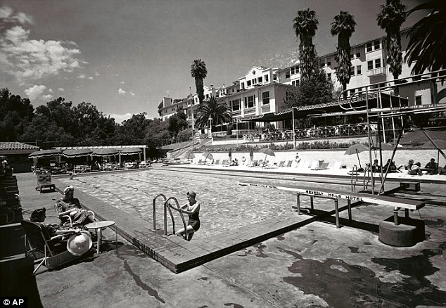Golden age sun: The pool at The Beverly Hills Hotel in 1938