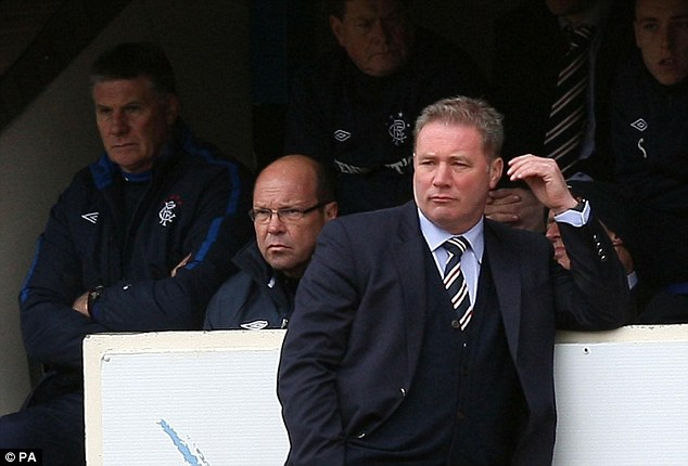 Signing off in style: Ally McCoist's men enjoyed an emphatic victory in their final game of the season