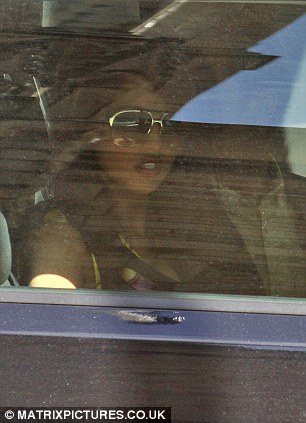 Heading home: The couple were spotted as they hopped into a car together
