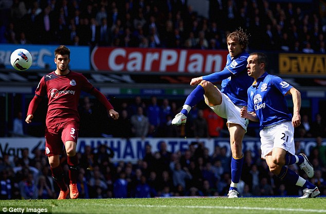 Double trouble: Jelavic buries the second