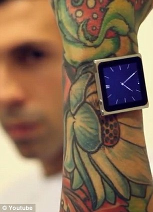 Hurban said having the iPod on his wrist feels like wearing a watch.