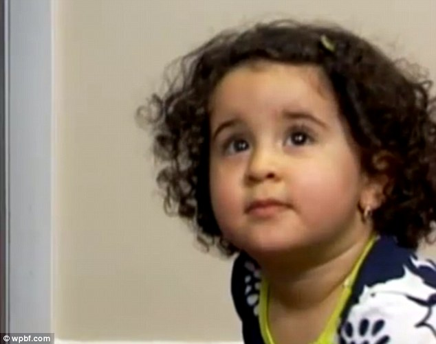 'Threat': Airline staff at Fort Lauderdale Airport in Flordia claimed 18-month-old Riyanna was on a Transport Security Agency no fly list and was escorted off the plane, her parents said
