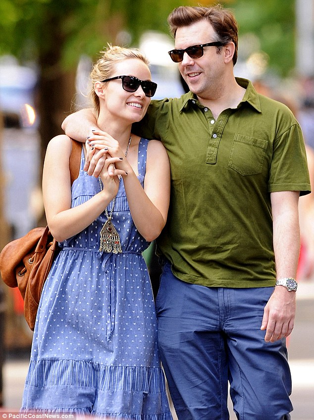 The look of love: The Relanxious co-stars looked sublimely happy while strolling around the city