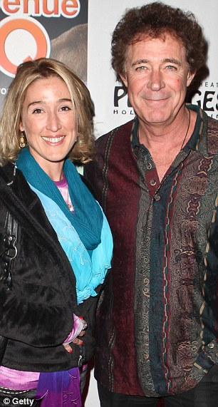 Happy couple: Barry Williams and his much younger girlfriend Elizabeth Kennedy are over the moon