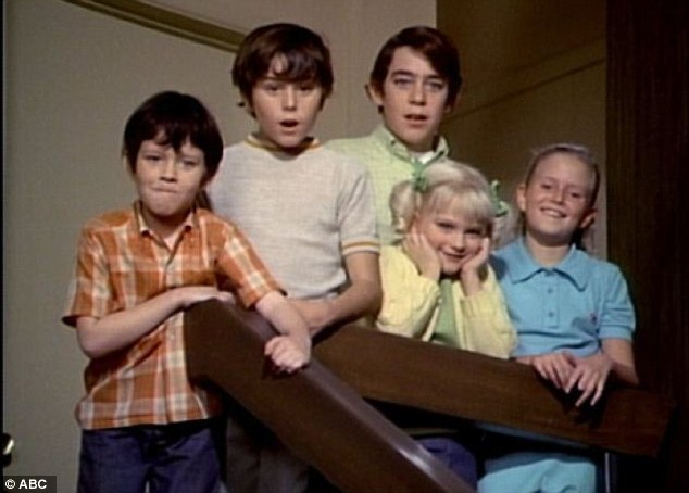 Youngsters: Barry was the oldest of the siblings on hit 1970s sitcom The Brady Bunch