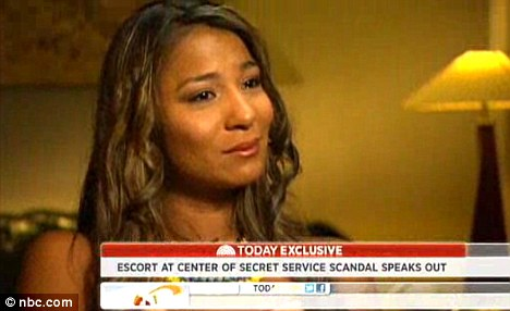 Controversy: The prostitute at the centre of the Secret Service sex scandal, Dania Suarez, has spoken out to the media in recent weeks