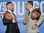 FRAMPTON V QUIGG PRESS CONFERENCE\nPARK PLAZA HOTEL,LONDON\nPIC;LAWRENCE LUSTIG\nWORLD CHAMPIONS CARL FRAMPTON(IBF) AND SCOTT QUIIGG (WBA)COME FACE TO FACE AS THEY ANNOUNCE THEIR IBF-WBA SUPER-BANTAMWEIGHT UNIFICATION FIGHT ON EDDIE HEARNS AND CYCLONE PROMOTION AT MANCHESTERSARENA ON FEBRUARY 27TH 2016.ALSO IN ATTENDANCE ARE EDDIE HEARN AND BARRY McGUIGAN ALONG WITH TRAINERS jOE GALLAGHER(QUIGG) AND SHANE McGUIGAN(FRAMPTON)