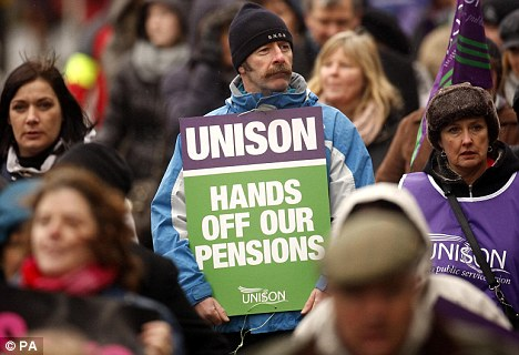 Clarkson made his comments on the day thousands of public sector workers walked out over their pensions