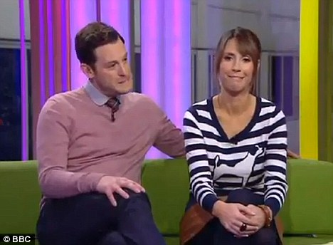 Awkward: Presenters Matt Baker and Alex Jones squirmed as Clarkson made his comments on the live programme