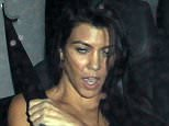 Picture Shows: Kourtney Kardashian  November 23, 2015    Celebrities are spotted enjoying a night out following the 2015 American Music Awards at The Nice Guy nightclub in West Hollywood, California.    Non Exclusive  UK RIGHTS ONLY    Pictures by : FameFlynet UK © 2015  Tel : +44 (0)20 3551 5049  Email : info@fameflynet.uk.com