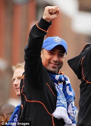 The leader: Roberto Di Matteo celebrates