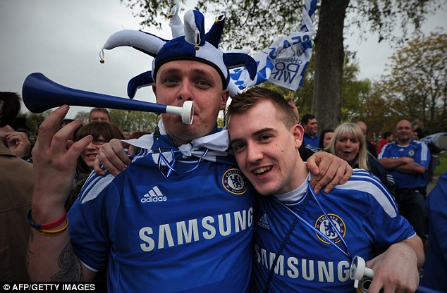 Making a song and a dance: Chelsea became the first London club to win the Champions League