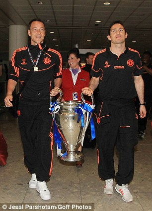 Champions: John Terry and Frank Lampard