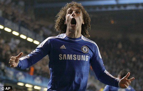 Crowd favourite: Luiz has become a hit with the Chelsea fans since his big-money move