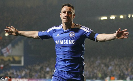 Back in the frame: Terry is expected to line up against Spurs