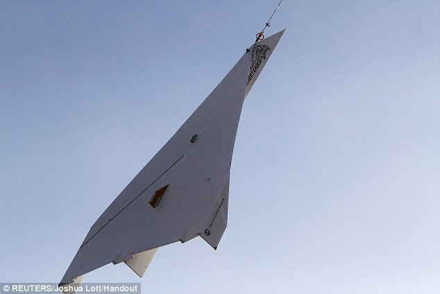 Plane paper: The airplane was lifted to 2,700ft before being allowed to fly back towards Earth in Arizona