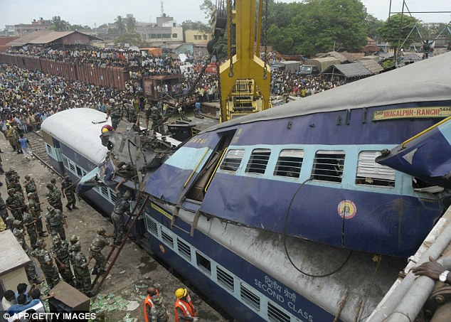 An accident waiting to happen: Critics say the rollback will rob the railways of funds needed to improve safety on the network (File photo)