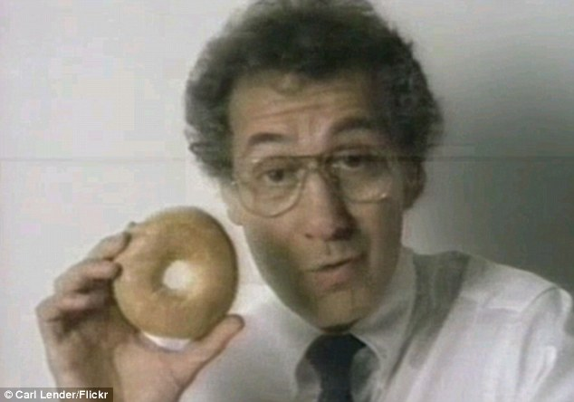 Familiar face: Murray Lender was well known for starring in TV commercials of Lender's bagels