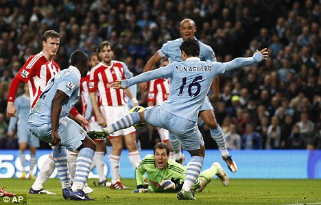 Last time out: City eased past Stoke 3-0 at the Etihad, with two goals from Sergio Aguero