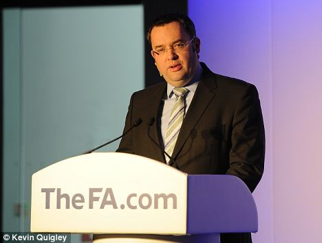 Support: Alex Horne the General secretary of the FA