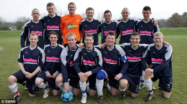 Rampant: The Wheel Power FC squad who ran riot in the Torbay Sunday League clash