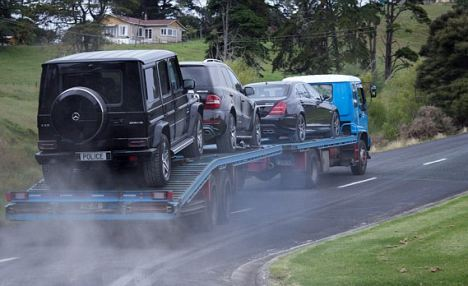 Leniency: Dotcom is now allowed up to 60,000 New Zealand dollars ($49,000) per month from his frozen bank accounts to pay for his living expenses as he prepares his defence. He is also allowed the use of one of his cars, a 2011 Mercedes Benz