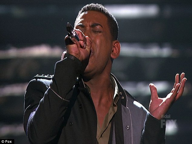 So close but yet so far: Joshua Ledet was man people's favourite, but he ended up in third place and seemed under par tonight