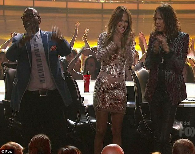 The team! Steven Tyler sang a plea to J-Lo, who is thinking of leaving, to stay and keep them together
