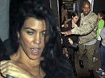 Kourtney Kardashian looking worse for wear while out with her mothers boyfriend Corey Gamble at Justin Biebers party at 'the Nice Guy' Bar in West Hollywood, CA  Pictured: Kourtney Kardashian, Corey Gamble Ref: SPL1182878  231115   Picture by: SPW / Splash News  Splash News and Pictures Los Angeles: 310-821-2666 New York: 212-619-2666 London: 870-934-2666 photodesk@splashnews.com
