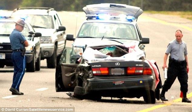 Horrific: Miss Keegan died in a car crash while her boyfriend Mr Gocksch was driving