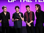 LOS ANGELES, CA - NOVEMBER 22:  (L-R) Singers Niall Horan, Louis Tomlinson, Liam Payne, and Harry Styles of One Direction accept Artist of the Year award onstage during the 2015 American Music Awards at Microsoft Theater on November 22, 2015 in Los Angeles, California.  (Photo by Kevin Winter/Getty Images)