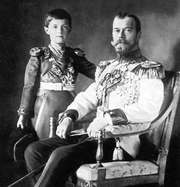 Genetics experts have long been convinced that remains belong to Alexei (left), the 13-year-old son of Nicholas II (right), and his sister Maria who were shot along with their family by the Bolsheviks in 1918