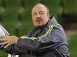 MELBOURNE, AUSTRALIA - JULY 21:  Head coach Rafa Benitez (R) of Real Madrid gestures during a training session at AAMI Park training ground on July 21, 2015 in Melbourne, Australia.  (Photo by Helios de la Rubia/Real Madrid via Getty Images)